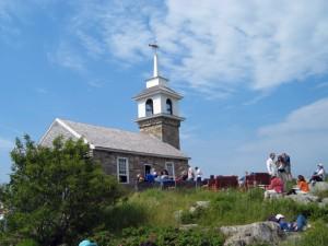 Star Island - Irene Bush - People Around Chapel