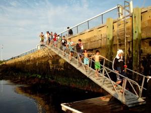 Walking to Dock